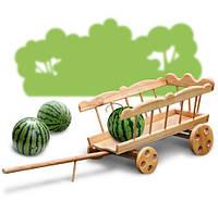 Декоративная тачка из дерева для ландшафтного дизайна и ярмарок