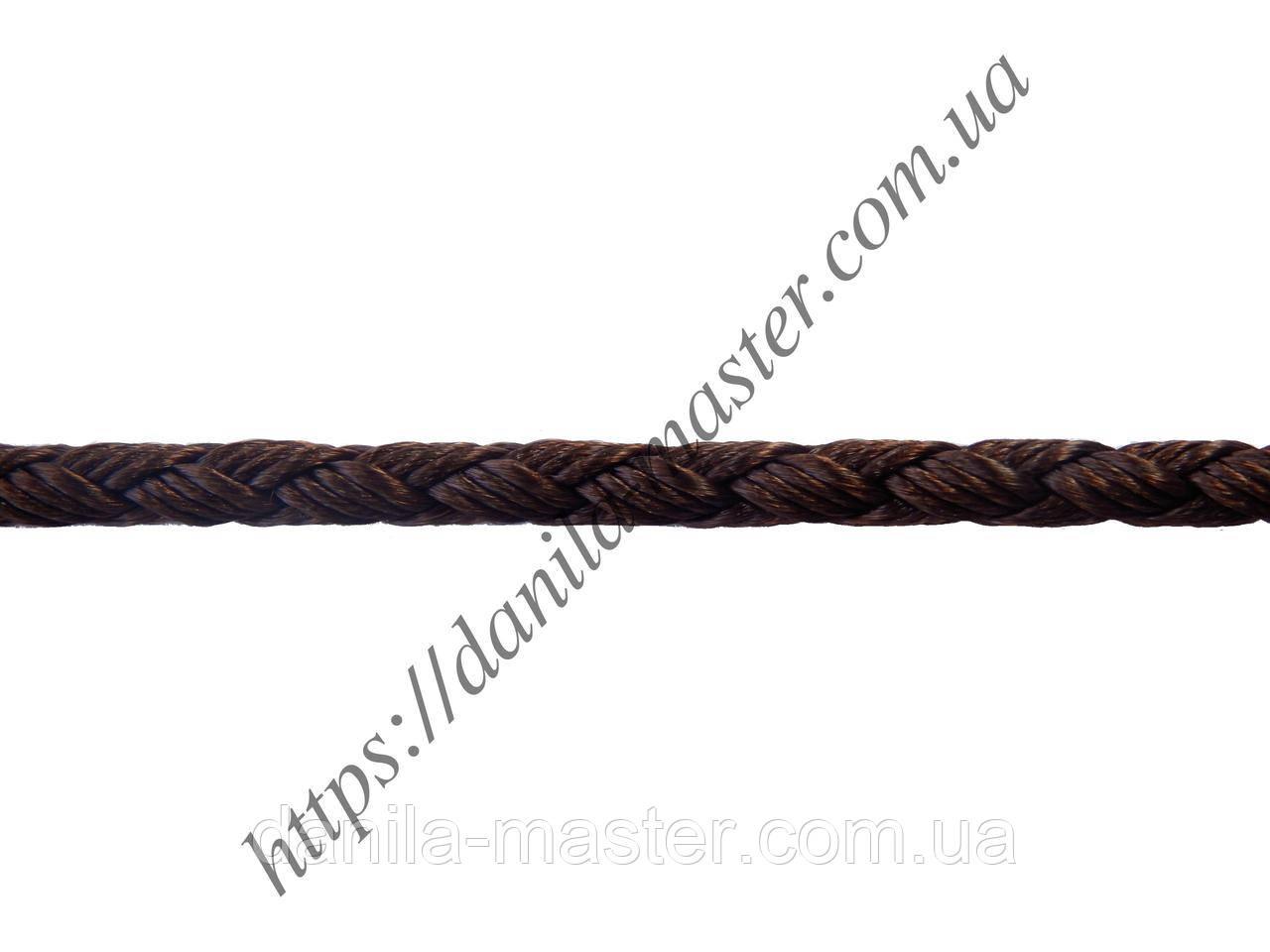 Шнур нейлоново-шовковий коричневий плетений Milan 2016 (d=3,0 мм)
