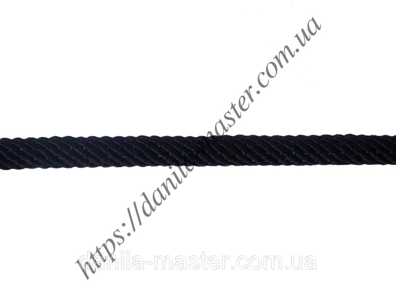 Шнур нейлоново-шелковый черный плетеный Milan 221 (d=3,0мм)