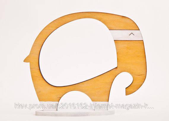 Фоторамка ручной работы слон песочный