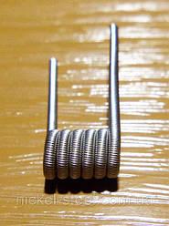 Спираль Fused Clapton Coil Фьюзд койл 2.5мм, 6 витков, Нихром Х20Н80, 0.4мм, Нихром Х20Н80, 0.15мм