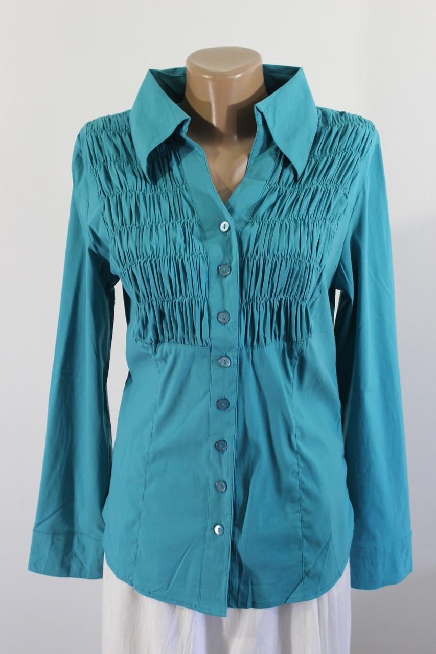 8cbb8721a19 Рубашка женская бирюзовая 03060 - купить по низкой цене. Код 716079890