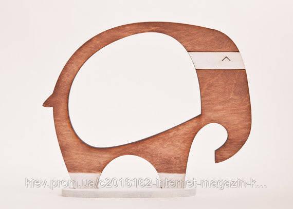 Фоторамка ручной работы Слон коричневый