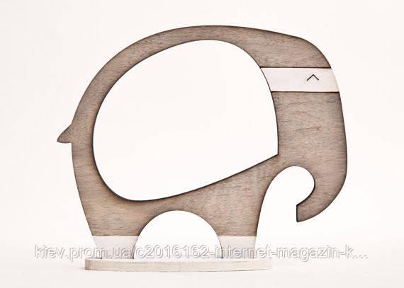 Фоторамка ручной работы слон серый