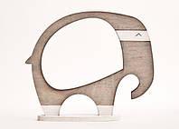 Фоторамка ручной работы слон серый, фото 1