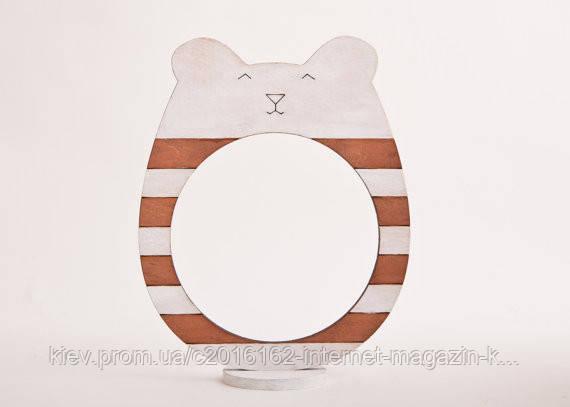 Фоторамки ручной работы медведь бело-коричневая полоска
