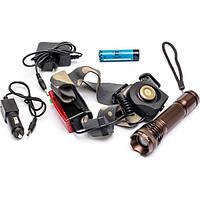 Аккумуляторный фонарь Bailong BL-6811 налобный и ручной