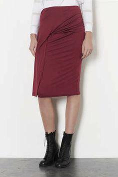 Новая юбка миди цвета бургунди Topshop, фото 2
