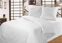 Комплект постельного белья белый 1,5