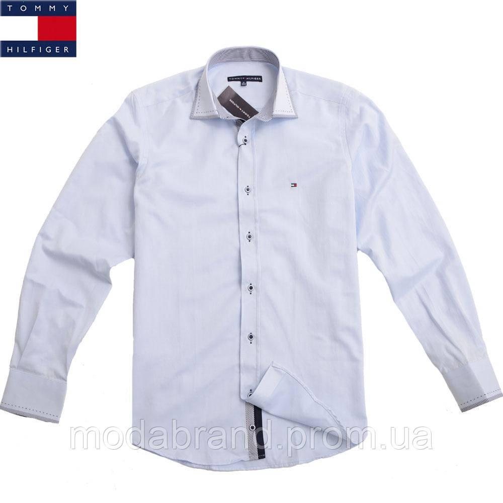 9c422fb5a0e Рубашка мужская приталенная Tommy Hilfiger-1461 светлоголубая