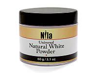 Nila Пудра акриловая белая натуральная Natural White Builder, 60 г.