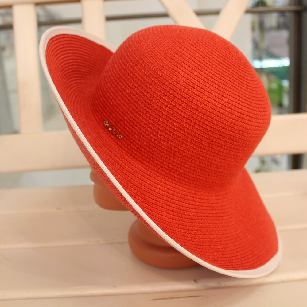 Шляпа красная женская (Лето 2018)