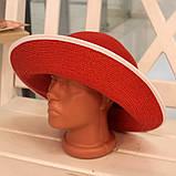 Шляпа красная женская (Лето 2018), фото 2