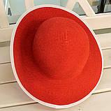 Шляпа красная женская (Лето 2018), фото 4