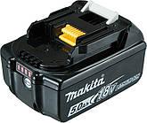 Акумулятор Makita LXT BL1850B (Li-Ion, 18В, 5Аг, індикація розряду) 632F15-1