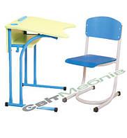 Комплект: Стол 1-местный, антисколиозный, №4,5,6 + стул, №4,5,6