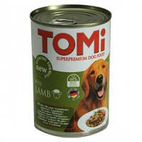 TOMi ЯГНЕНОК (lamb) консервы корм для собак, банка. Вес 400гр.