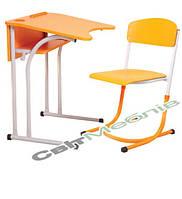 Комплект: Стол 1-местный, антисколиозный, №4-6 + стул, №4-6 с регул. по высоте, фото 1