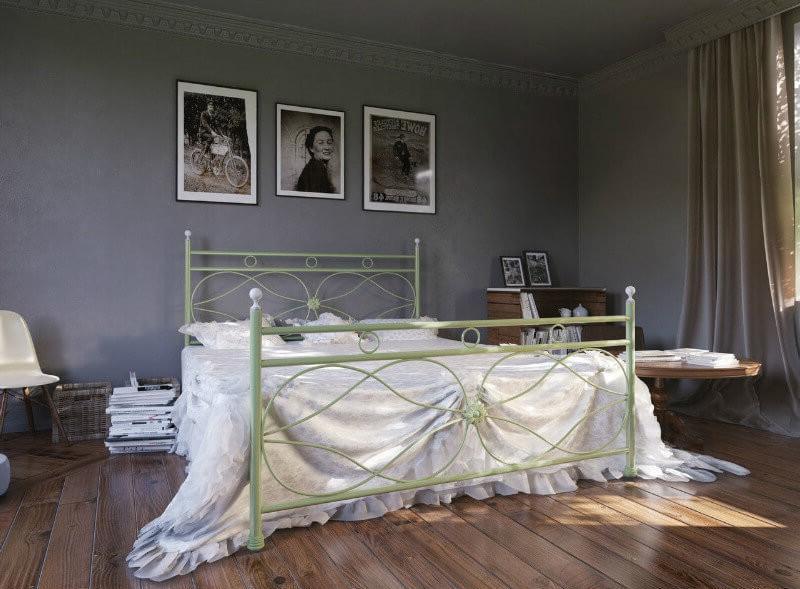 Кровать Виченца 160*190 фисташка (Металл дизайн)