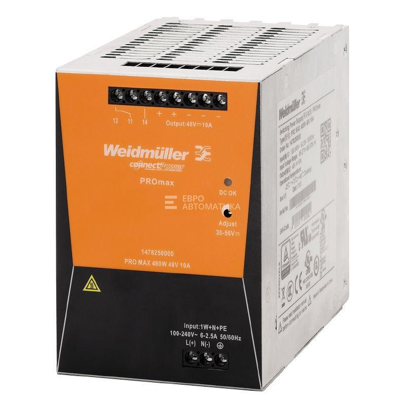 Источник питания Weidmuller PRO MAX3 480W 24V 20A - 1478190000