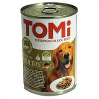 TOMi 3 ВИДА ПТИЦЫ (3 kinds of poultry) консервы корм для собак, банка. Вес 400гр.