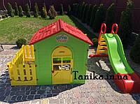 Mochtoys детская площадка горка и домик