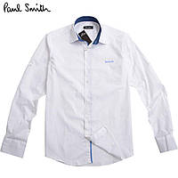 Красивая белая мужская рубашка Paul Smith