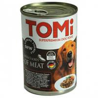 TOMi 5 ВИДОВ МЯСА (5 kinds of meat) консервы корм для собак, банка. Вес 1.2кг.