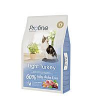 Profine LIGHT натуральное мясо индейки и рис для котов и кошек с избыточным весом 10кг