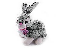 Мягкая игрушка озвученная Кролик сизый (36см) №051-1