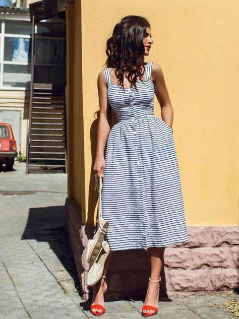 модные пляжные платья 2018