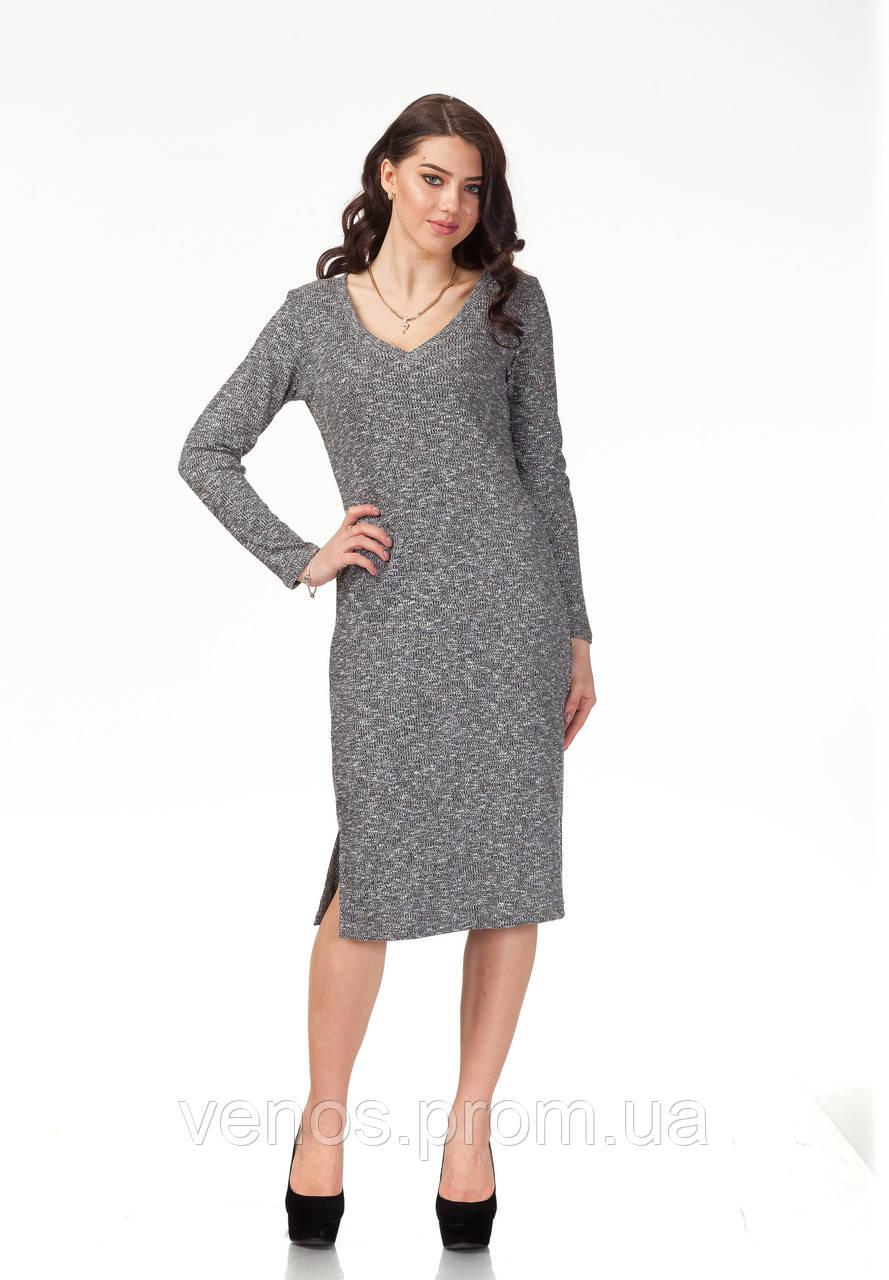 Женское платье с разрезами. П117