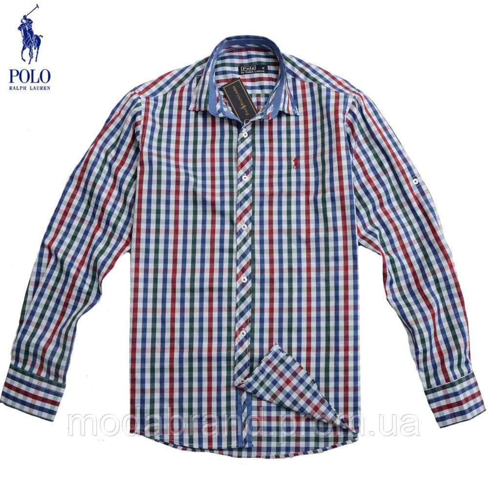 Стильная мужская рубашка в клетку Ralph Lauren.  продажа, цена в ... 7a9f54bf1b6