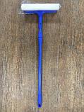 Щётка для мытья окон с поролоновой губкой, резиновой стяжкой для воды и телескопической ручкой 56.5-88.5Х21 см, фото 2
