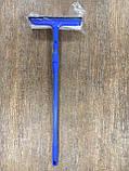 Щётка для мытья окон с поролоновой губкой, резиновой стяжкой для воды и телескопической ручкой 56.5-88.5Х21 см, фото 3