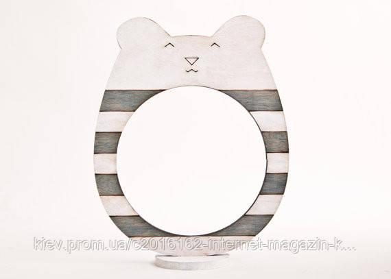 Фоторамки ручной работы медведь бело-серая полоска