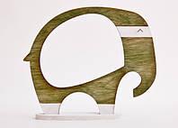 Фоторамка ручной работы слон оливковый, фото 1