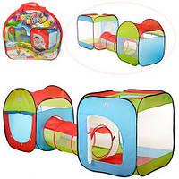 Палатка детская игровая с тоннелем M2503, размер 240-74-84 см, в сумке