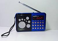 Радиоприемник RRedSun RS-099U, FM 87-108 Mhz, USB/microSD, mp3, аккумулятор Li-Ion 800mAh BL-5C blue, фото 1