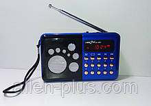 Радіоприймач RRedSun RS-099U, FM 87-108 Мгц, USB/microSD, mp3, акумулятор Li-Ion 800mAh BL-5C blue