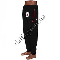 Мужские трикотажные брюки REEBOK черные R02-1 (44-52 р-р) пр-во Украина. Оптом в Одессе.