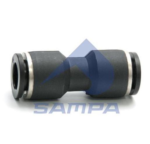 Пневмосоединение прямое пластик  трубка  10мм  sampa 094.481 / 2800 0264