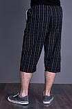 Чоловічі бриджі в клітинку (плащівка), чорного кольору, фото 2