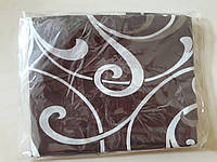 Наволочка 50*70 Вензель на коричневом, бязь