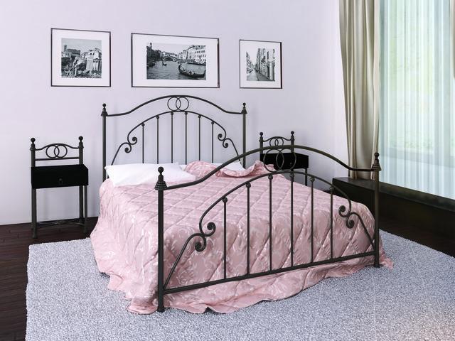 Кровать Флоренция 160*190 черный шоколад (Металл дизайн)
