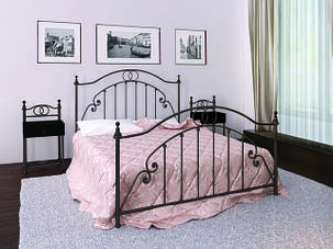 Кровать Флоренция 180*200 черный шоколад (Металл дизайн), фото 2