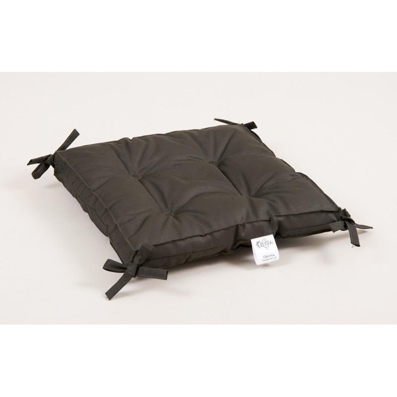 Подушка на стул Lotus 40*40*5 - Optima с завязками хаки оптом