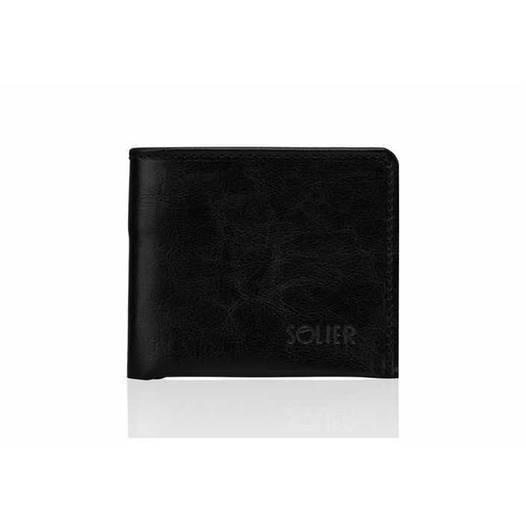Кожаный кошелек Черный SW05B