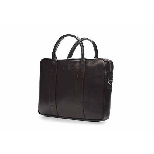 Кожаная сумка для ноутбука EDYNBURG на ремне коричневая Solier SL20