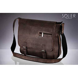 Сумка на плечо коричневая Solier S12
